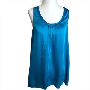NWT Express Blue Tank Top with Beaded  Neckline